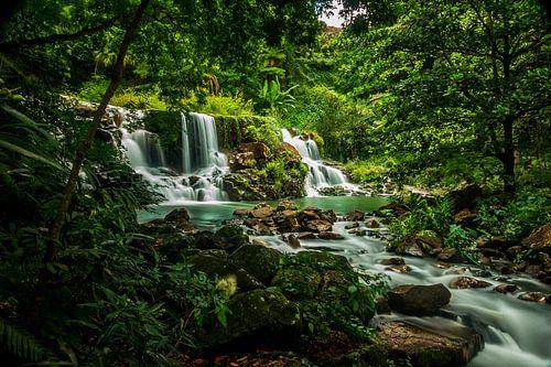 Tropische jungle waterval, tropical waterfall