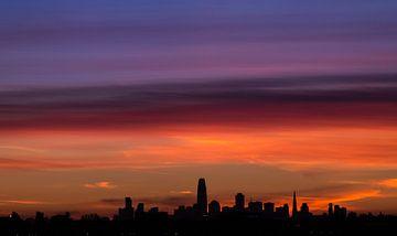 San Fransisco Skyline van Joram Janssen