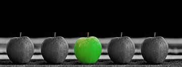 Äpfel grün und schwarz weiß von Gertjan Hesselink