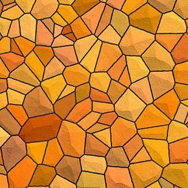 Steinmuster Orange von Marion Tenbergen