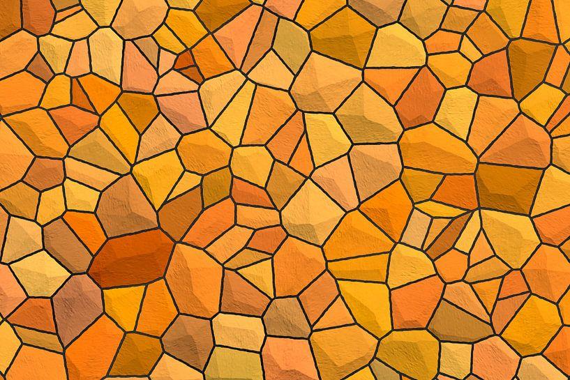 Steenpatroon oranje van Marion Tenbergen
