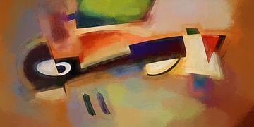 Abstracte samenstelling 1070 van Angel Estevez