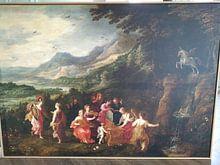 Klantfoto: Bezoek van Minerva aan de Muzen, Hendrick van Balen, Joos de Momper, Jan Brueghel de Oude, op canvas