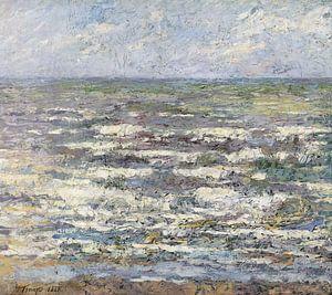 De zee bij Katwijk van Jan Toorop 1887 van