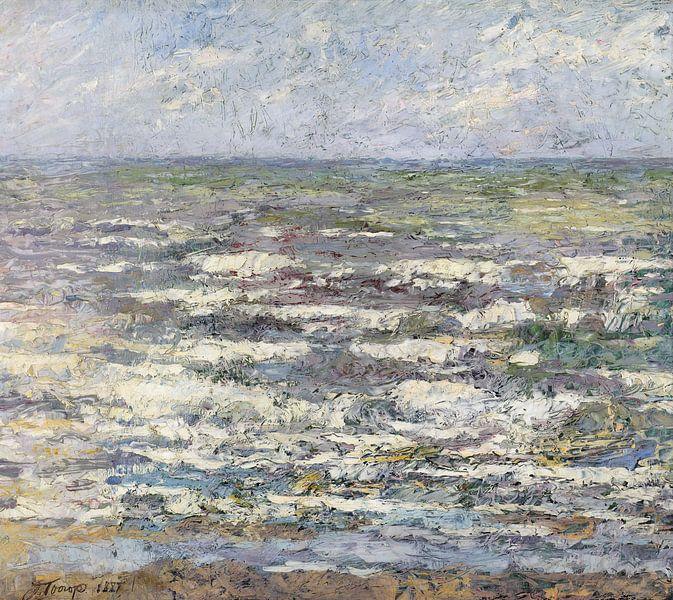 De zee bij Katwijk van Jan Toorop 1887 van Marieke de Koning