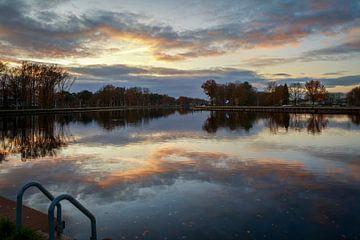 Die Wasserlandschaft von Tilburg... von Eugene Winthagen