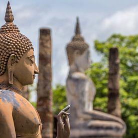 Buddha in Sukhothai van Edwin Mooijaart