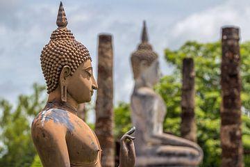 Buddha in Sukhothai sur Edwin Mooijaart