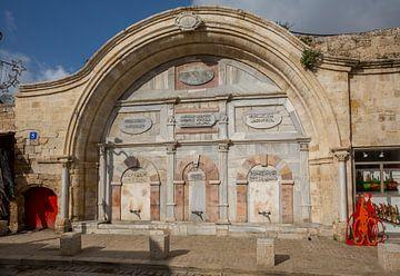 Rituele wasplaats van de Mahmoudiya moskee in Jaffa, Tel-Aviv, Israel van Joost Adriaanse