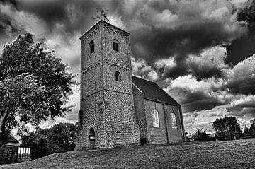 Kirche in der Landschaft, Stompetoren Spaarndam von Peter Pijlman