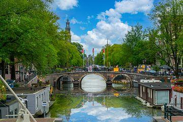 De Prinsengracht in Amsterdam van Ivo de Rooij