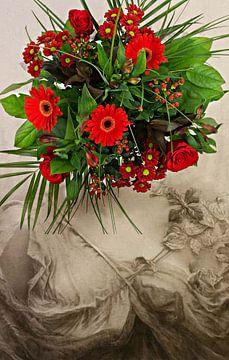 Vintage flowergirl no. 3 von PictureWork - Digital artist