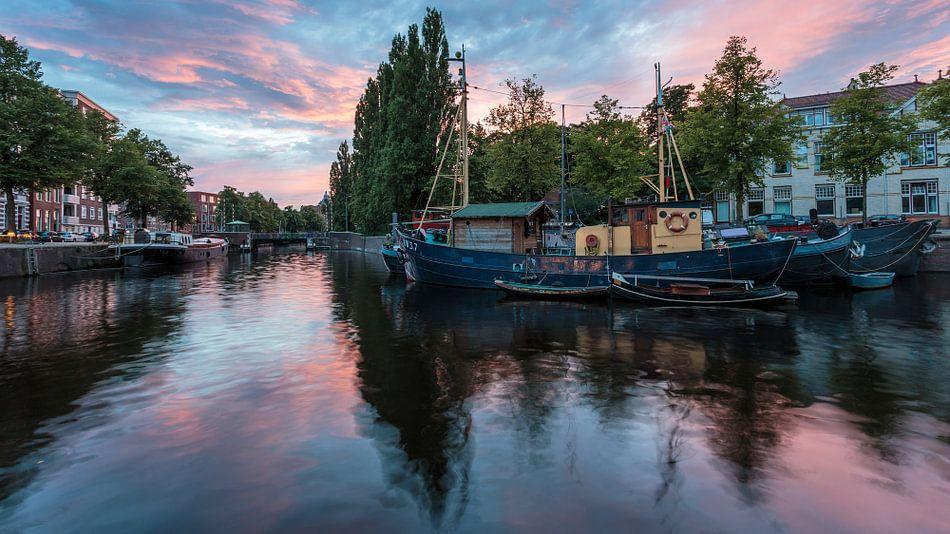 Noorderhaven sunset van Scott McQuaide