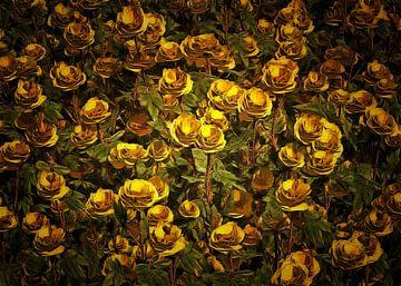 Rosen - gelbe Rosen von Jan Keteleer