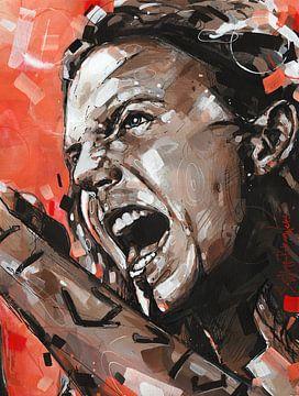 Eddie Vedder, Pearl Jam Gemälde von Jos Hoppenbrouwers