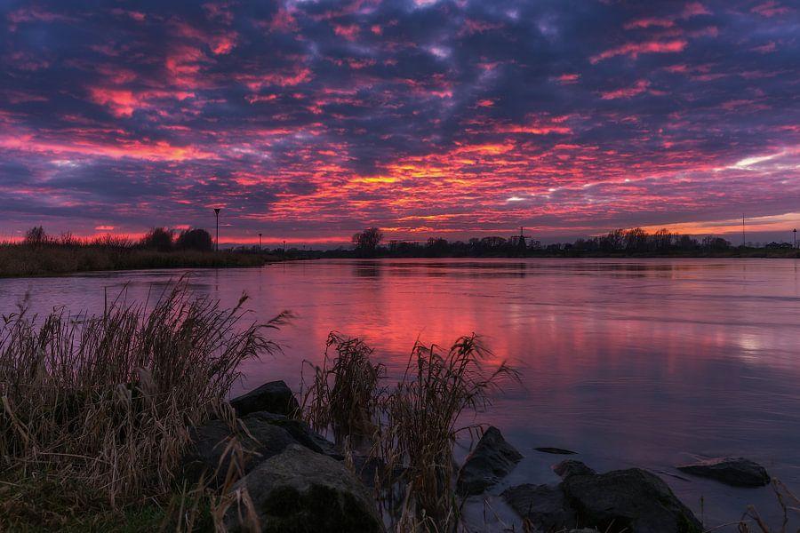 Zonsondergang IJssel Olst