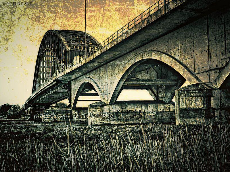 IJsselbrug bij Zwolle. von PictureWork - Digital artist