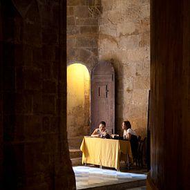 Kathedraal Alghero, Sardinië van Kees van Dun