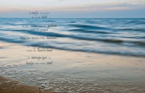 Ik mis je (1) van Beeld en Poëzie