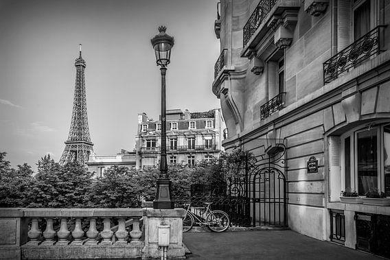 Parijse Charme   Zwart-Wit van Melanie Viola