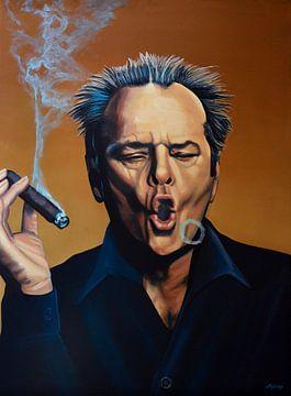Jack Nicholson Schilderij von Paul Meijering