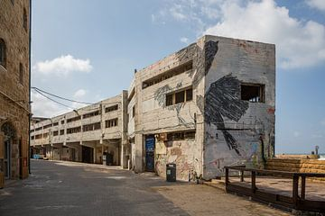 Betonbauten am Hafen der Altstadt von Jaffa, Tel Aviv. Israel von Joost Adriaanse