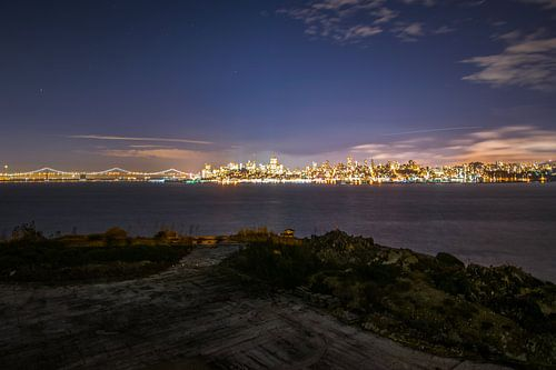 Night fall San Fransisico