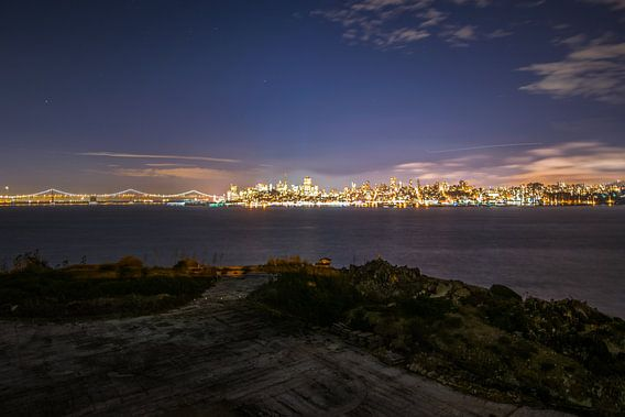 Night fall San Fransisico van Ton Kool