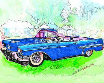 1957 Cadillac Convirtible sur Natasja Tollenaar