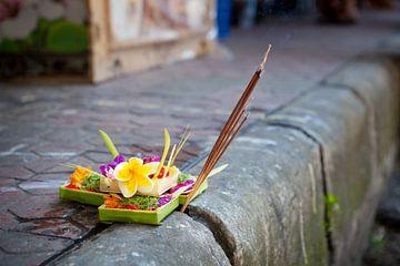 Traditioneller balinesischer Opferkorb von Henny Hagenaars