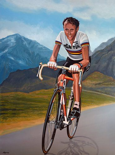 Joop Zoetemelk schilderij