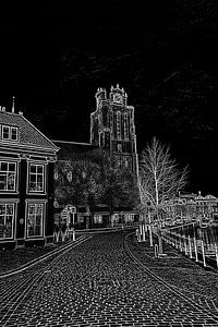 Kerk in lijnen van Henk Hartzheim