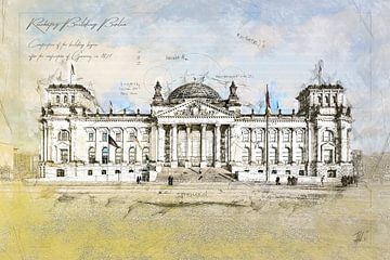 Rijksdag, Berlijn van Theodor Decker