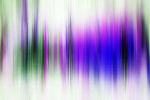 Modernes, abstraktes digitales Kunstwerk in Lila-Grün von Art By Dominic