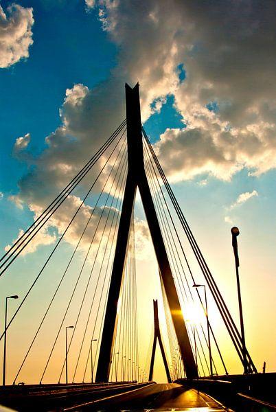 Hamburg: op de Köhlbrandbrücke (3) van Norbert Sülzner