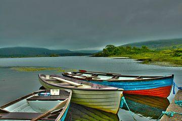 Boote auf dem See von Joop Bruurs