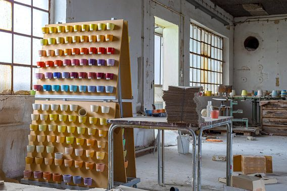Verlaten keramische fabriek