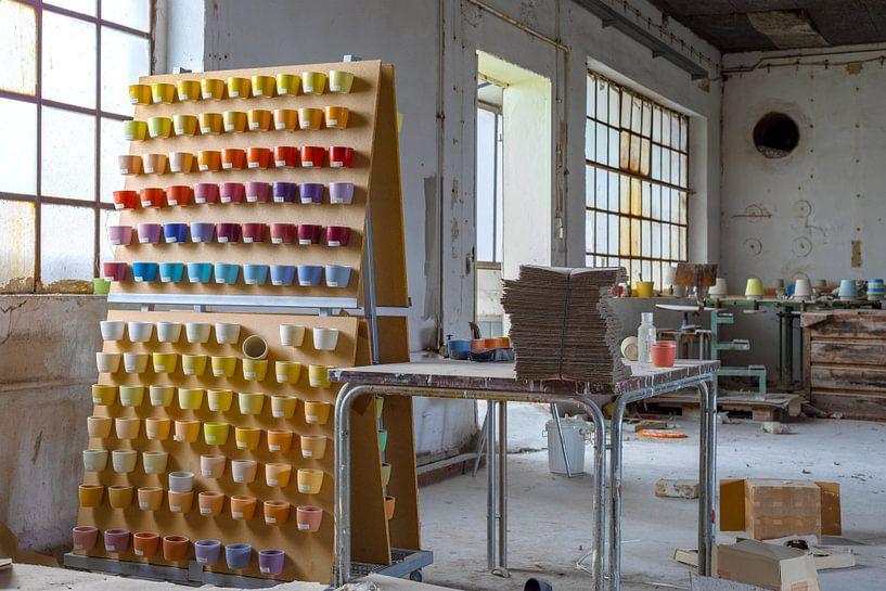 Verlaten keramische fabriek van Patrick Beukelman