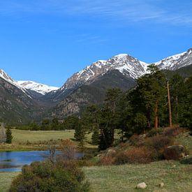 Wunderwelt der Rockies Sheep Lake Rocky Mountain National Park von Christiane Schulze