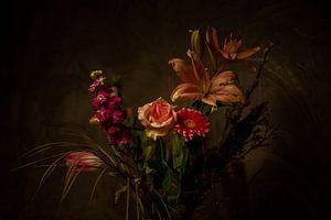Clair obscur - Stilleven bij lamplicht van Marc Wielaert