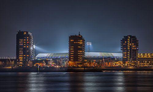 Feyenoord stadion De Kuip tijdens een Europa League avond
