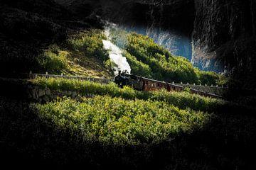 Stoomlocomotief Zwitserland Oberalpenstafel van Gideon Onwezen
