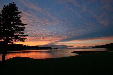 Lucht op Manitoe eiland, afscheid von Denni