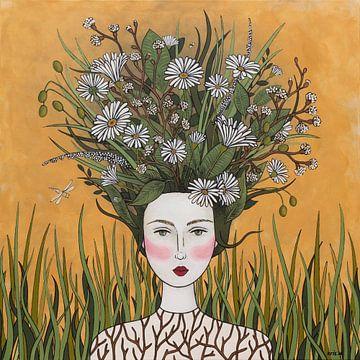 Blumen in meinem Kopf (Nr.2020-17) von Kris Stuurop