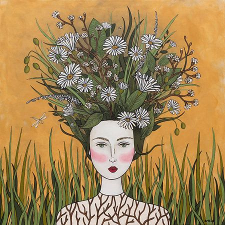 Bloemen in mijn gedachte (nr.2020-17) van Kris Stuurop