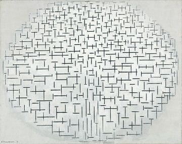 Compositie 10 in zwart-wit, Piet Mondriaan