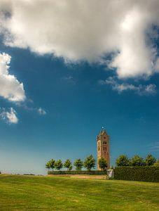 Kerktoren van het Friese dorpje Firdgum