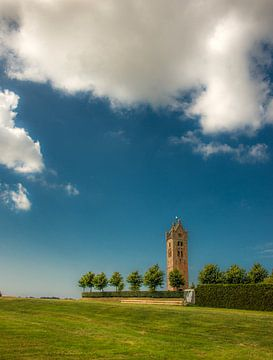Kerktoren van het Friese dorpje Firdgum sur