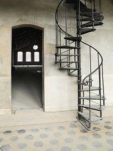 De oude draai trap