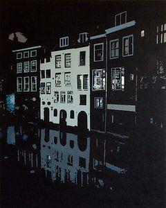 Lijnmarkt Utrecht bij nacht van